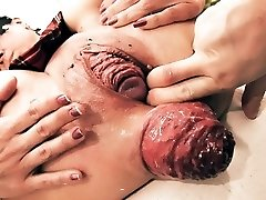 Insanely Humungous Rosebud! Cervix Exposure. Eggplant Penetratio