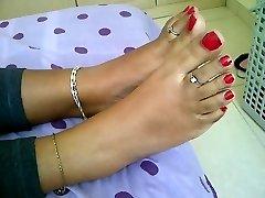 tonåring indiska fötter