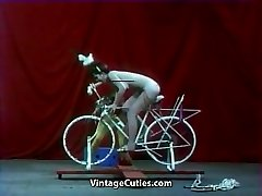 Beautiful Doll is Riding a Orgy-bike