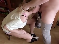 Extreme Gagging Sloppy Throatfuck. Bunch Of Saliva And Spunk On Nike Sneakers