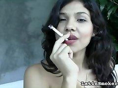 youthful cigarette smoking latina