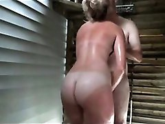 Sex In A Public Shower Cabin