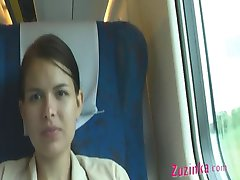 در یک قطار شلوغ