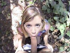 Busty teen slut Keisha Grey picked up and fucked on tape