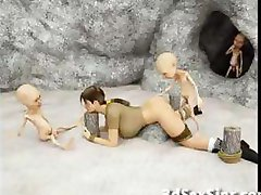 هیولا برو 3D Elf دختران!