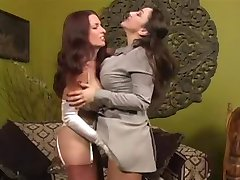 Nylon Stockings VS Pantyhose - Fetish lesbo domination