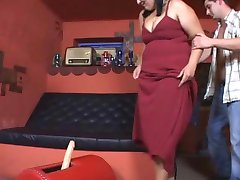 BBW mature uporabite strapon in jebe