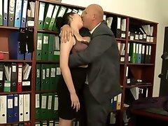 Busty office sex.