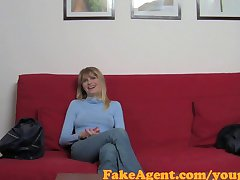 FakeAgent Hot blonde amateur with amazing nipples does anal in Office