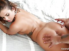 سوپر داغ Keisha Grey عمل دختر ,
