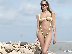 Silvie Deluxe zöld bikini
