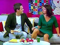 Marlene Lufen tyske tv-verten mega upskirt