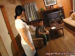 Horny japanese mature babes sucking part4