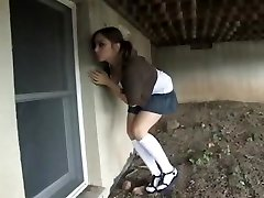 Girl caught snooping and hogtied in basement