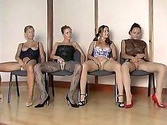 Hottest nylon girls vs 1 lucky guy