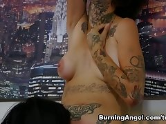 Hottest pornstars Aayla Secura, Michael Vegas, Nikki Hearts in Amazing Emo, Brunette sex clip