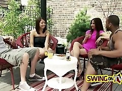 Naughty swingers satisfying each other