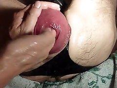 Handballing A Large Eggplant