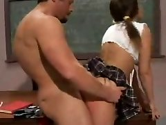 Cheating college girl humped by her teacher