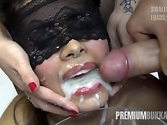 Premium Bukkake - Victoria gulps 81 ample mouthful cumloads
