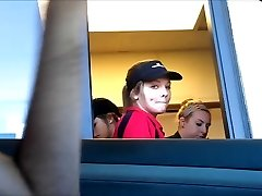 Drive thru Girl witnesses bulge