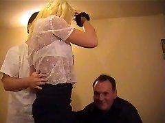 Britų apskretėlė Danielle gauna pakliuvom į FMM threesome