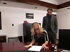 Nicole drills in office