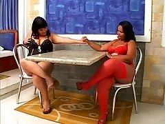 Linette & Natalia - Lihav Brasiillased
