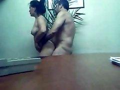 卡拉奇办事处的性别老他妈的热的身体秘书Farah