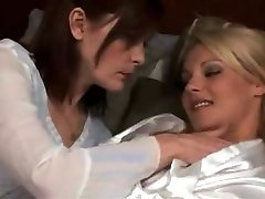 mature girl-girl make out with hot ash-blonde