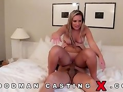 Funny face in her first rectal fuck