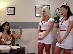 Rectal Medical Punishment. Hot Nurses get a Deep Check-up