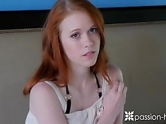 PASSION-HD Tiny red-haired teen Dolly Lil' welcome home fuck