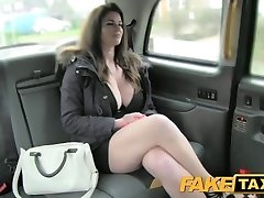 FakeTaxi Immense tits and sexy eyes takes manmeat