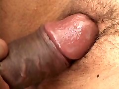 Smallish latina gets on her knees to deep throat black meat
