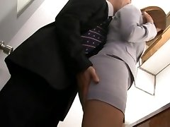 Haruki Sato gets fucked in her hubby�s office