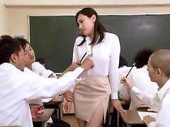 Asian damsel at school