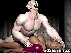 Three Dimensional Demon and Demons Cum On Babes!