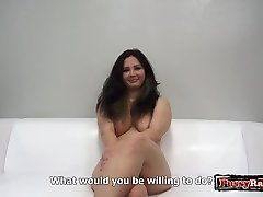 Hot amateur casting with cum-shot