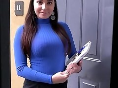PropertySex Curvy Real Estate Agent Drills Potential Client
