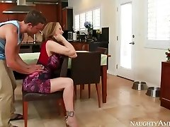 Amazing Step Mom Julia Ann loves frolicking