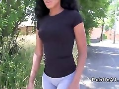 Ebony inexperienced flashing bum in public