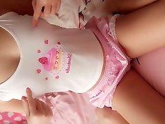 super mielas mokyklos paauglių mėgsta webcam jos rožinis pyragas pūlingas u