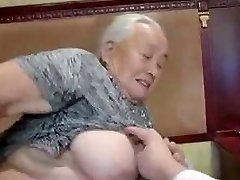 80yr old Japanese Grandma Still Loves to Fuck Uncensored