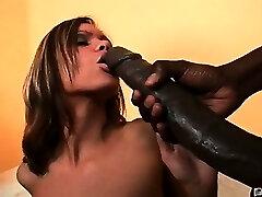 She got that big black lollipop New Jersey style! We've got