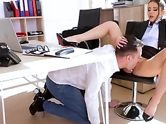 Russian biz damsel in the office gets an orgasm from passionate fu...