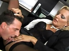 Magnificent slut fucked at her office