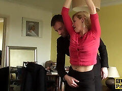 Mature uk sub gets handcuffed and dominated over