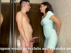 Best sex of a stepmom and stepson while her husband earns currency on a biz trip