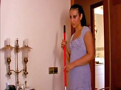 Maid helps her boss get off